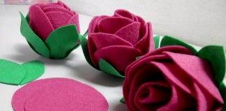 Passo a passo – Aprenda a fazer uma simples e linda Rosa de feltro