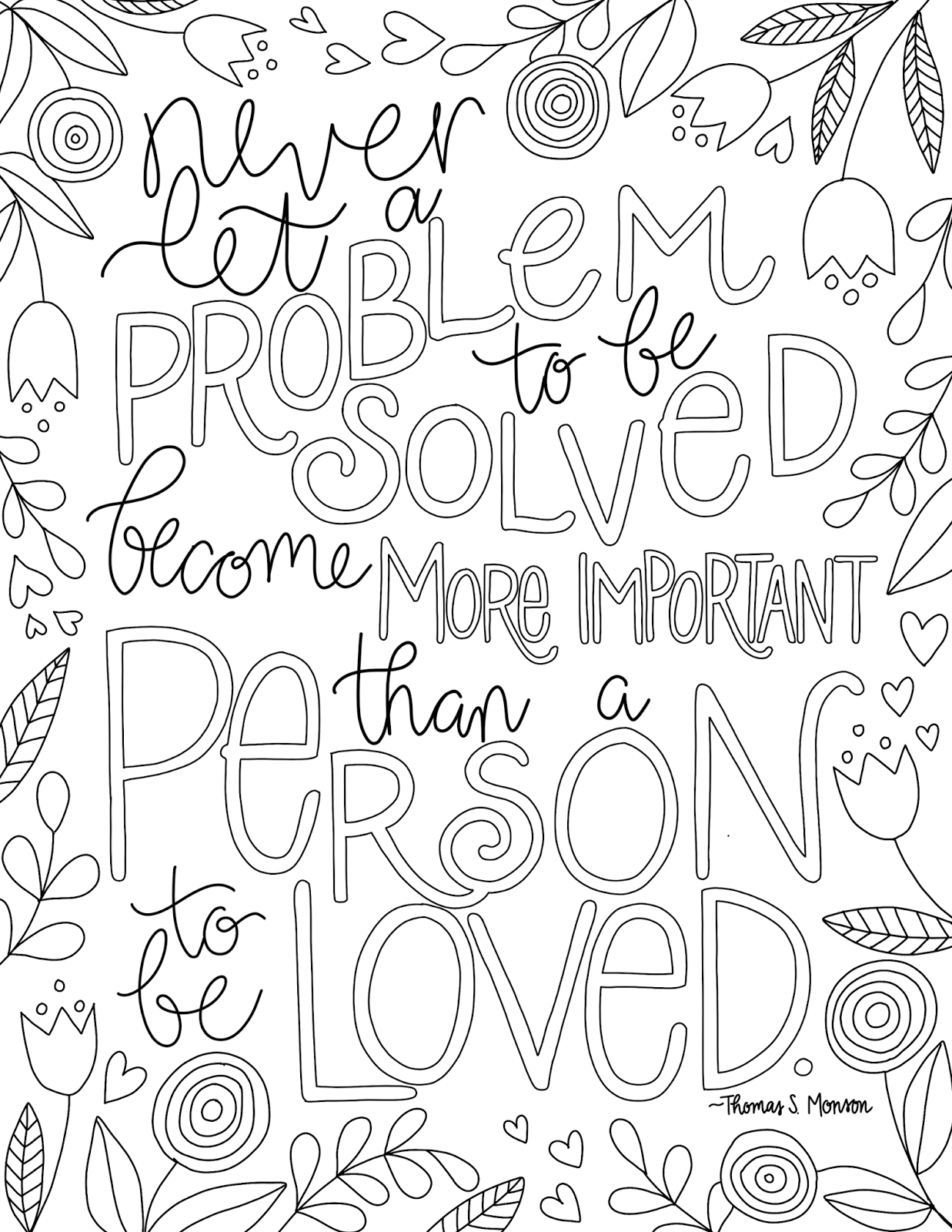 just what i {squeeze} in: Problems vs People - free LDS coloring ...