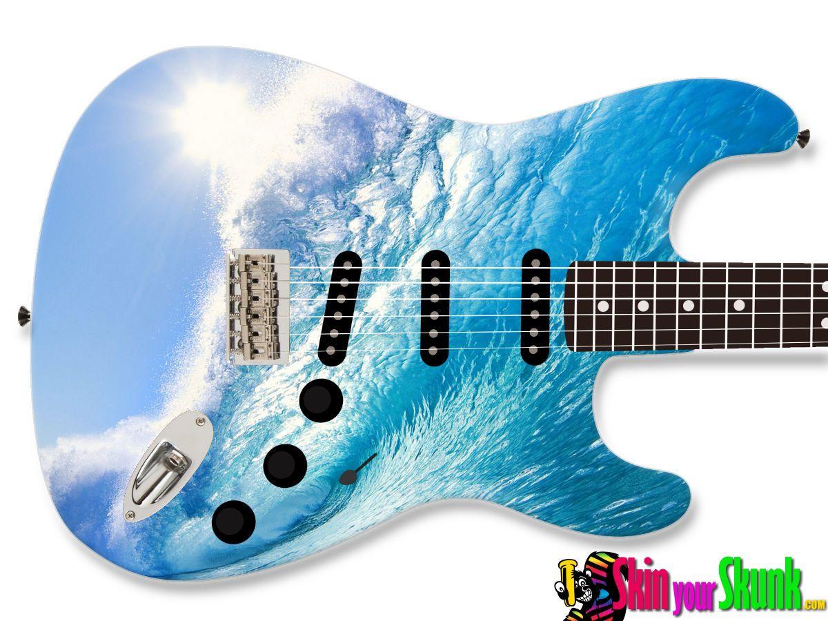 Guitar Skin Wave Skinyourskunk Com Guitar Lovers Guitar Classical Guitar
