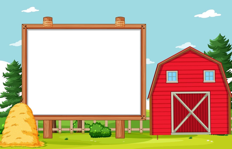 Empty Banner Board In Nuture Farm Scenery Farm Scenery Scenery Theme Background