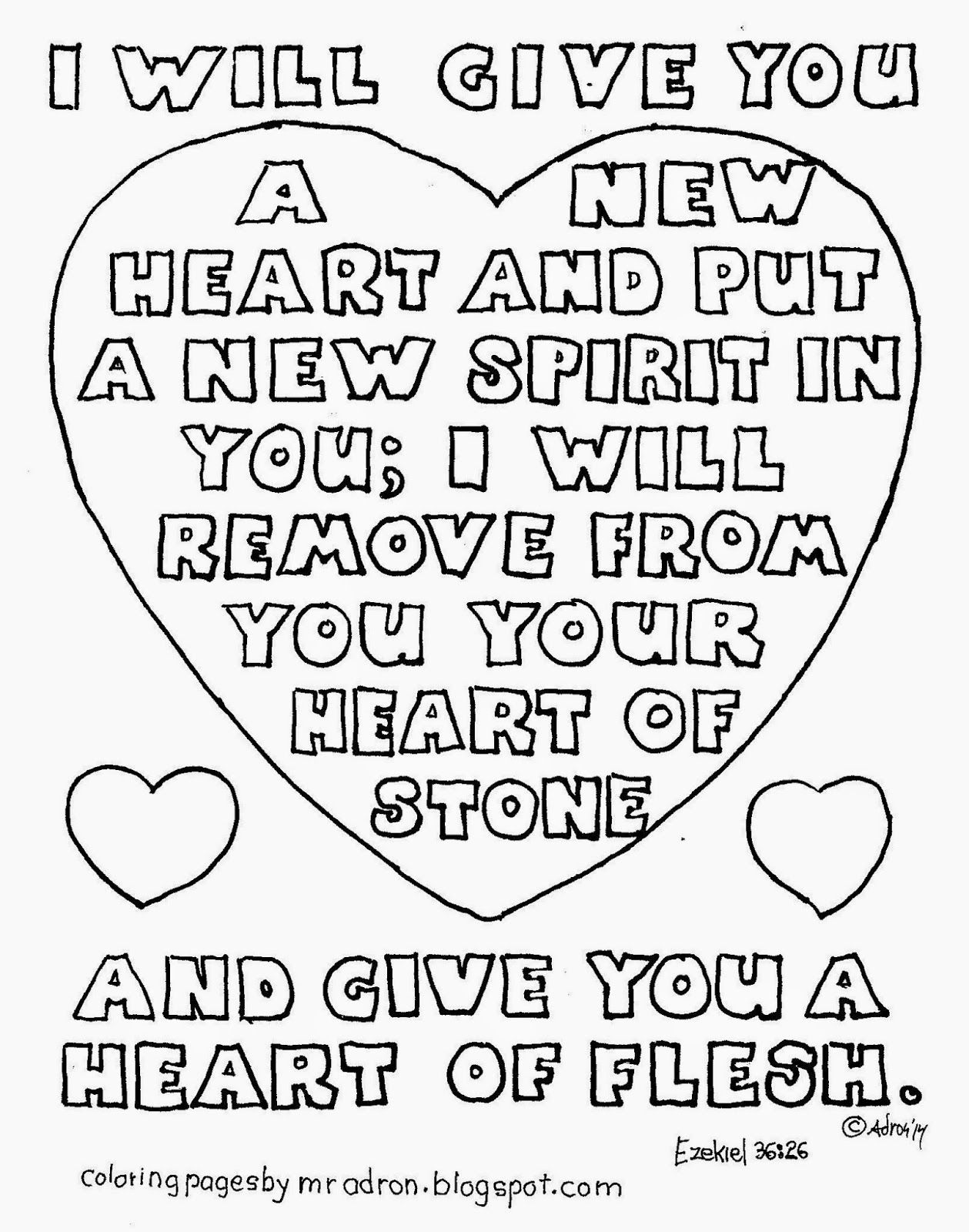 I Will Give You A New Heart In You Coloring Page Ezekiel 36 26