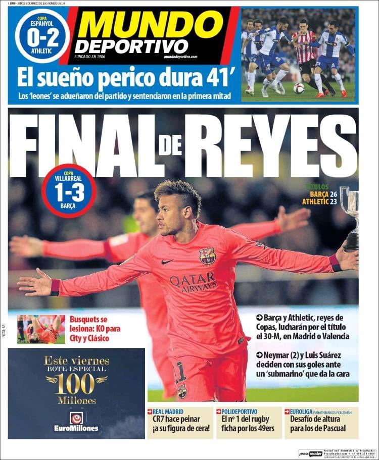 Portada Mundo Deportivo 5/03/2015 Athletic, Portadas