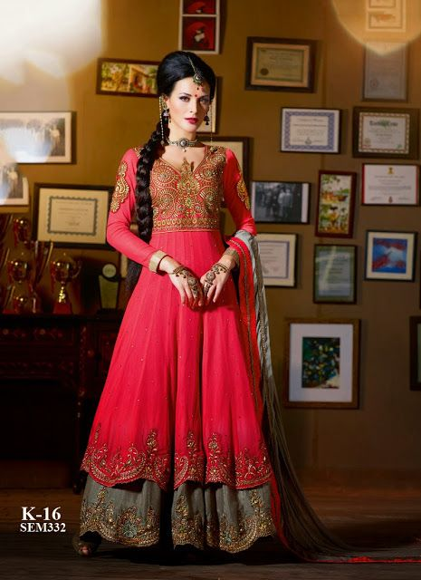 New Arrival Designer Embroidery Floor Touch Anarkali Suit ...