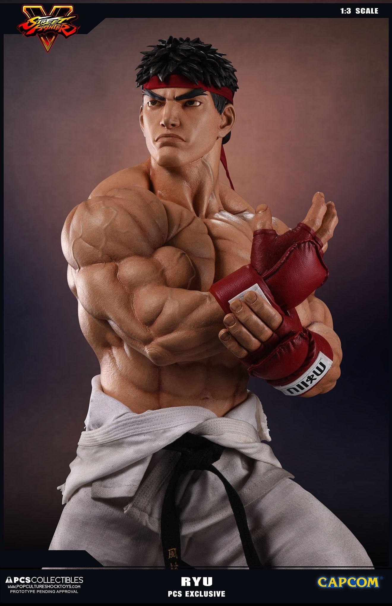 Pop Culture Shock Street Fighter V Ryu 1 3 Scale Statues Fotos De Super Herois Street Fighter Corpo Masculino