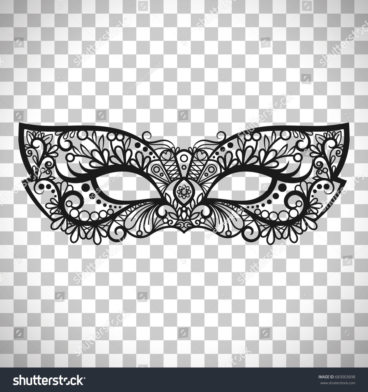 Beautiful lace mask, Mardi Gras vector mask isolated on