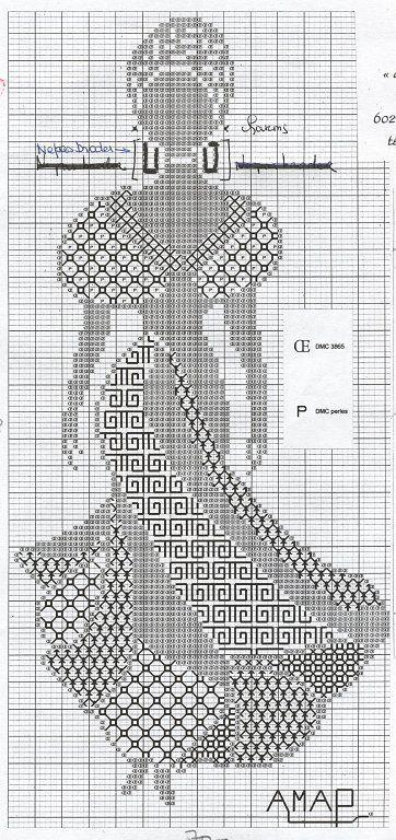 0 point de croix femme africaine - cross stitch african woman ...