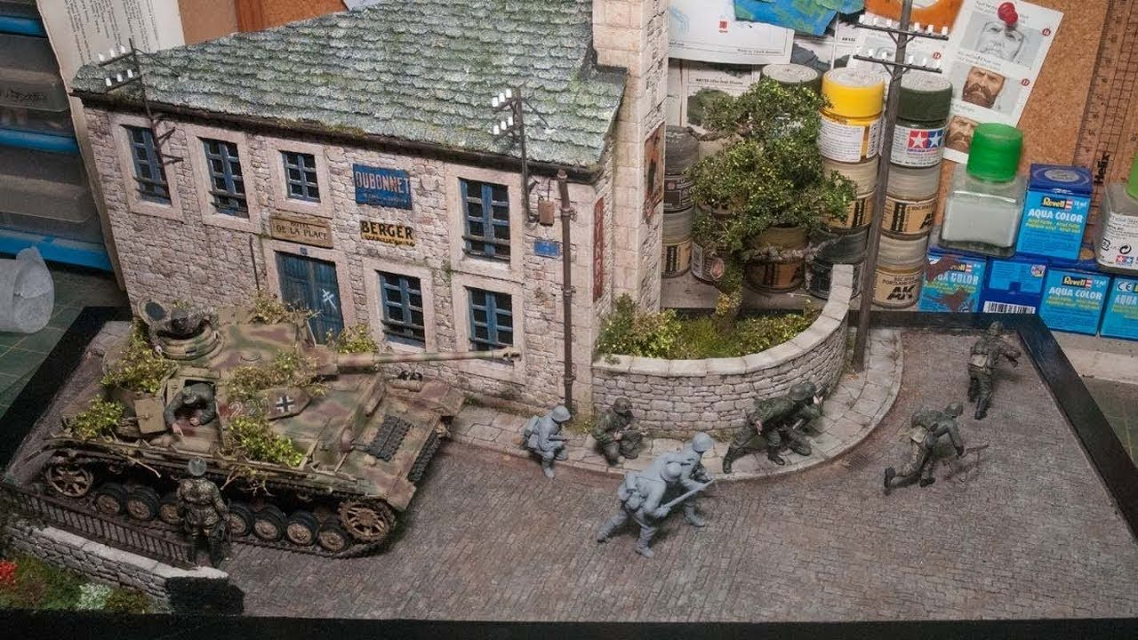 Fall Back From Falaise A 1 35 Diorama The Making Of Military Diorama Diorama Military Diorama Buildings