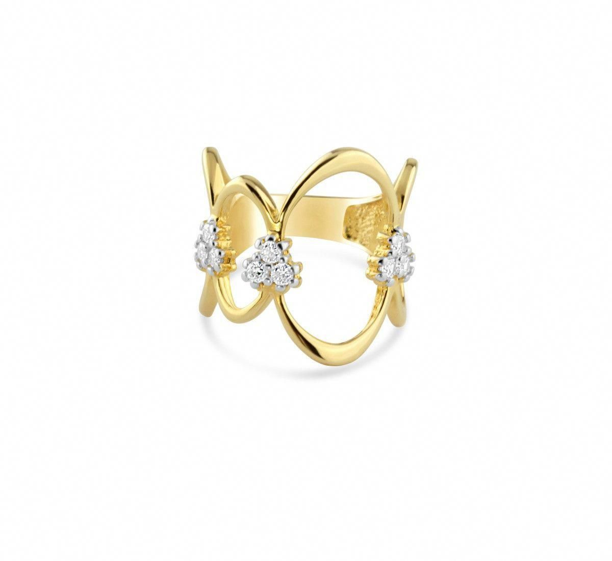 Bella 18k Yellow Gold Filled Cz Ring Lush Jewels Goldrateindia Rate