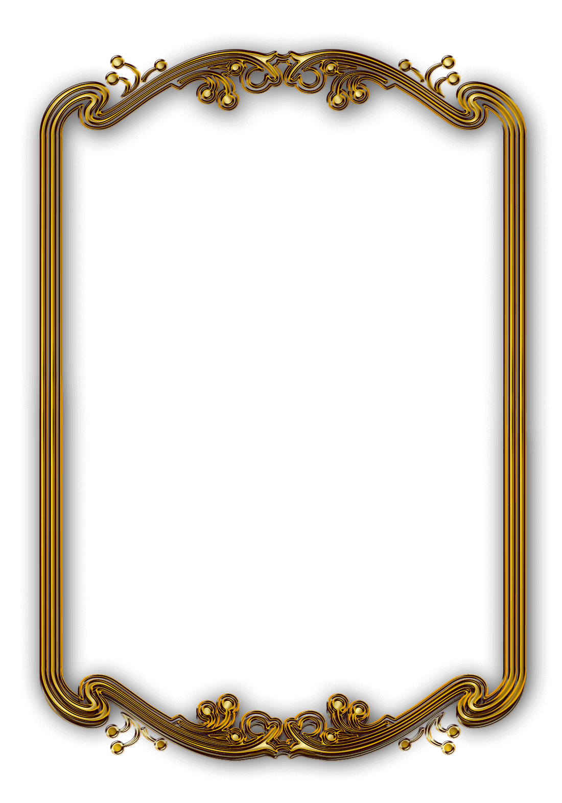 Picture Frame, Photography, Gold Picture Frame Image and