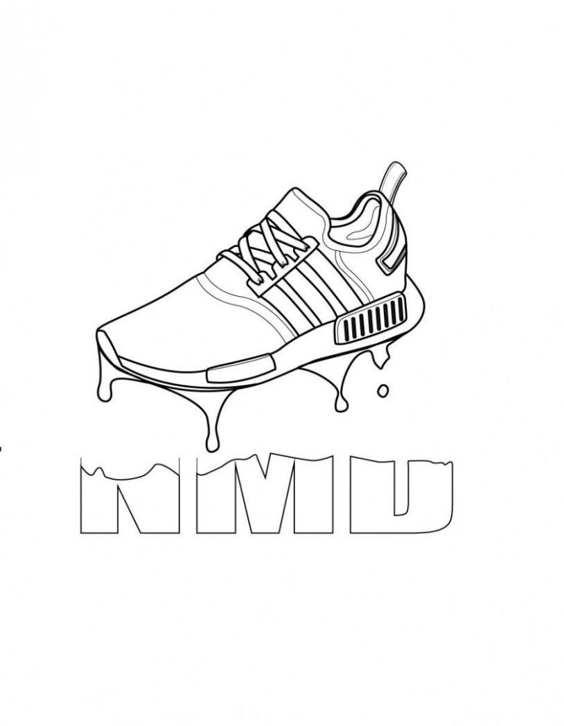 Athletic Shoes Coloring Pages to Printable Running Shoe Coloring ... | 1047x814