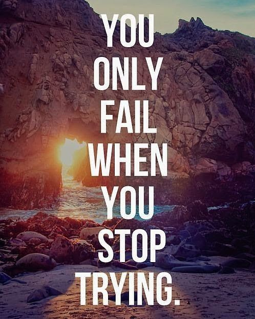 Hard Work Never Fails Quotes: You Never Fail Until You Stop Trying. Set Your Goals, Fix