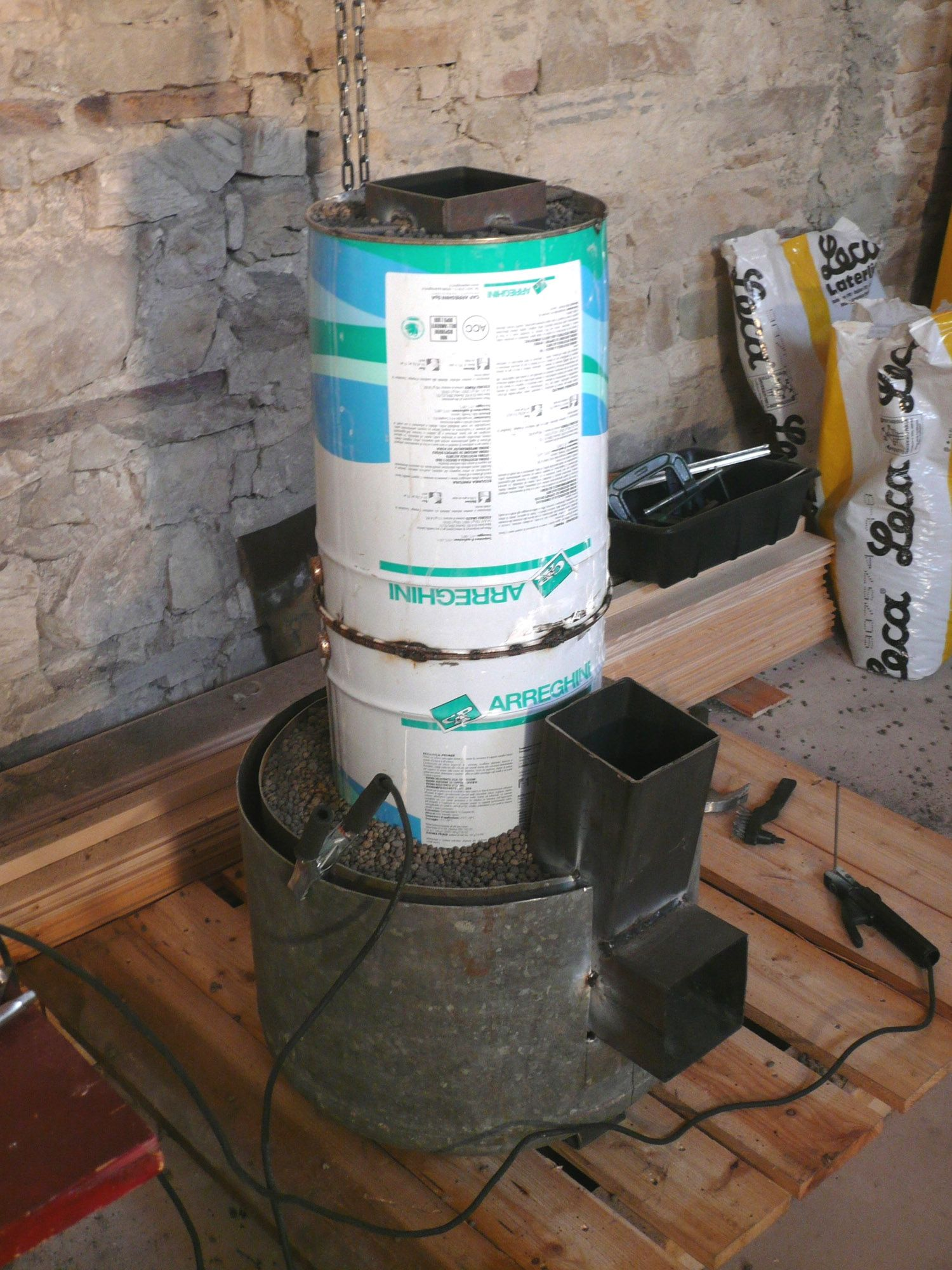 The Inside Chimney Insulated With Foamed Ceramic Leca