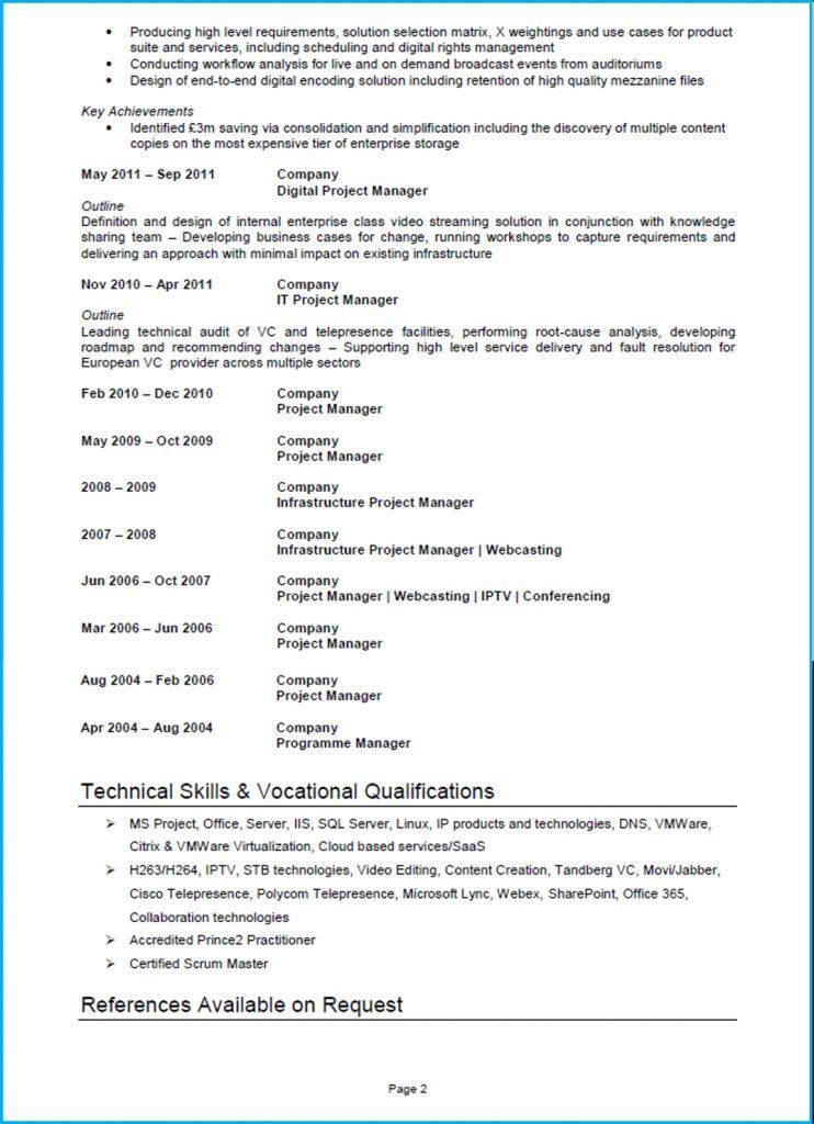 Cv Examples For Retail Jobs Uk Luxury Stock Project Manager Cv Example Cv Template And Writing Guide Project Manager Resume Cv Examples Resume Examples