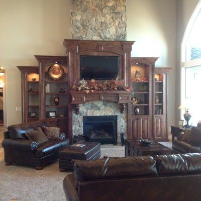 cosy drywall entertainment centers. TV above fireplace  built in entertainment center vaulted ceilings CF Olsen Designs