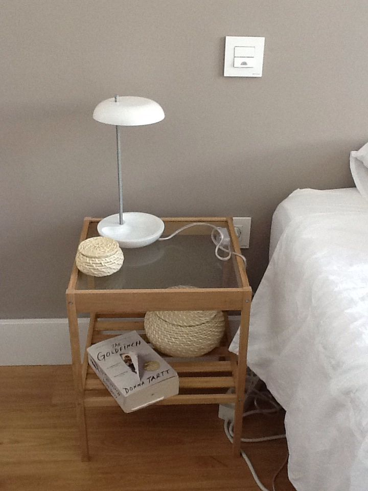 IKEA Lekaryd lamp on Nesna table. Lamp is perfect for