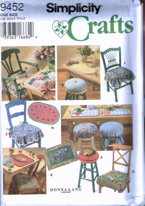 Sewing Patterns For Chair Cushions Cushion Covers Walmart Place Mat Wooden Pad Pattern Tie On Watermelon Placemat Craft Pat