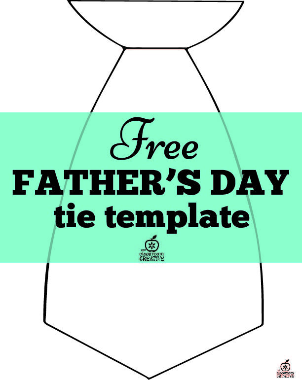 Free Father S Day Tie Template Freebie Father
