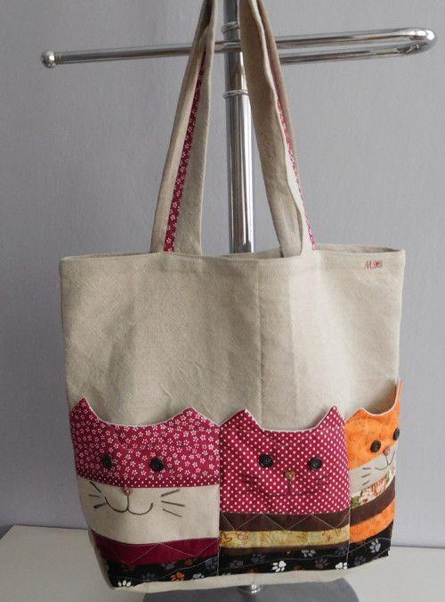 Bolsa con bolsillos para gatos – # tapas # gato # bolsillos # Bolsa