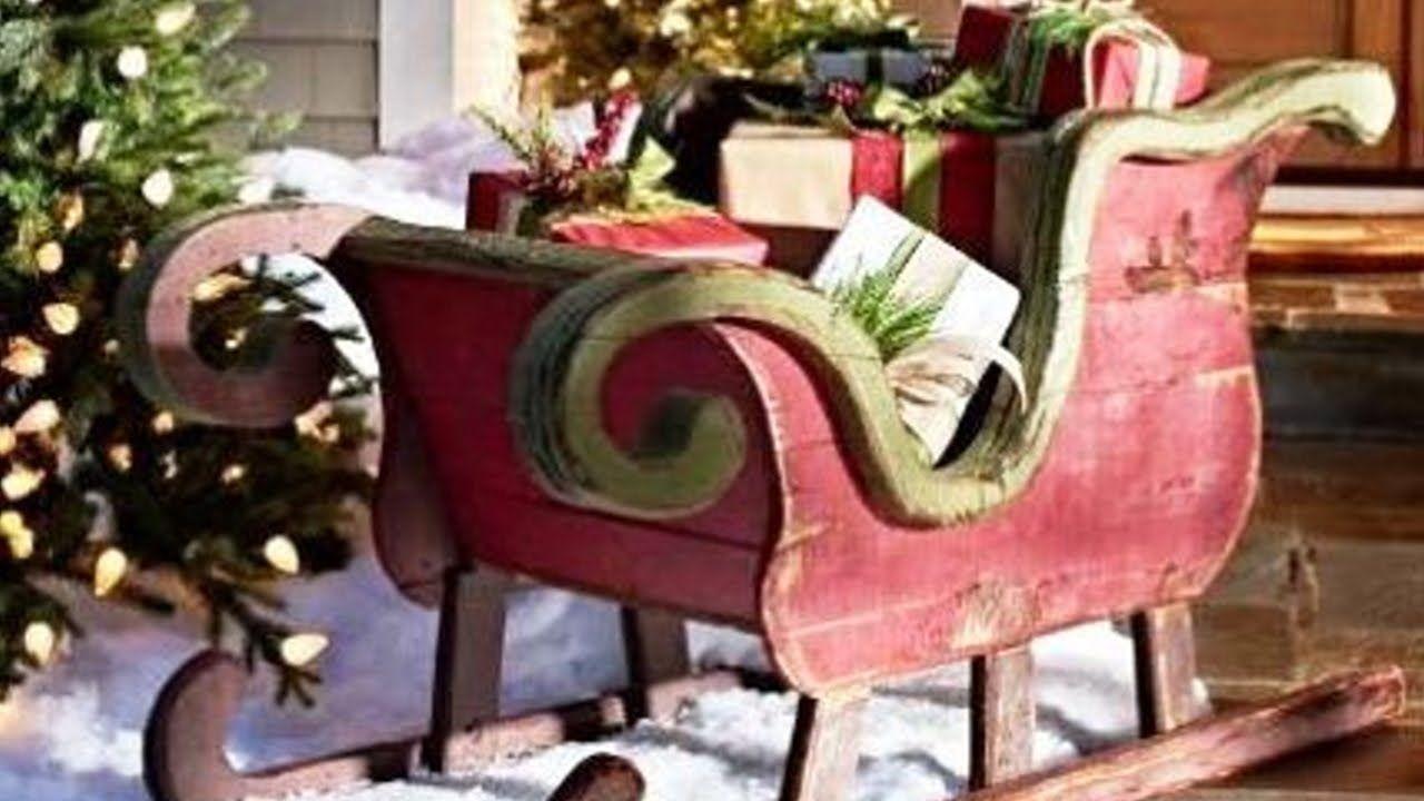 Creative and Fun Sleigh Décor Ideas for Christmas