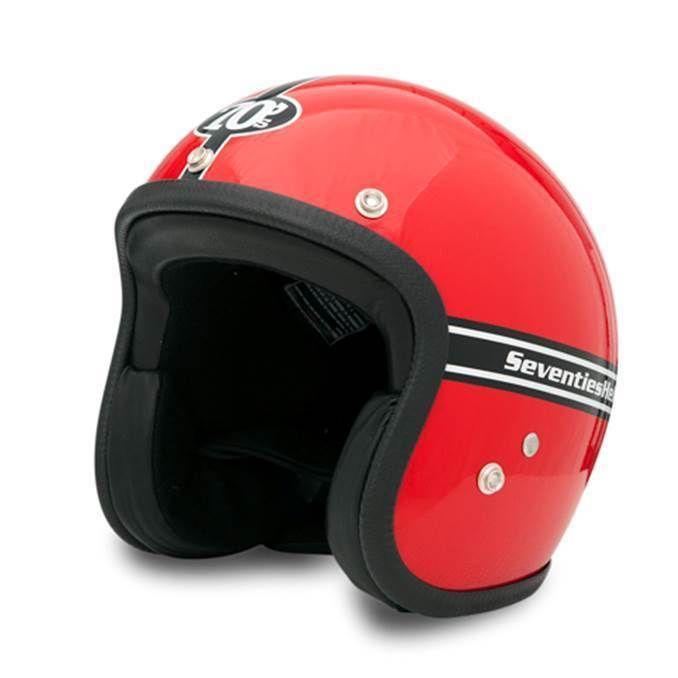 Seventies Rot Roter Vintage Helm Mit Ece Helm