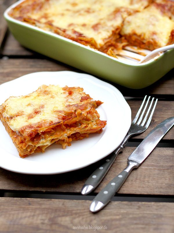 Photo of Vegetarische Lasagne mit roten Linsen