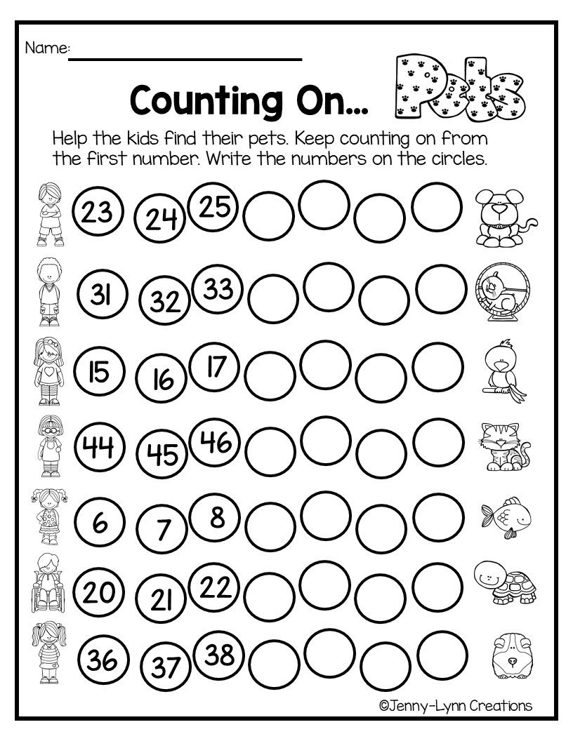 Kindergarten Math-Unit 1-Counting and Cardinality (With
