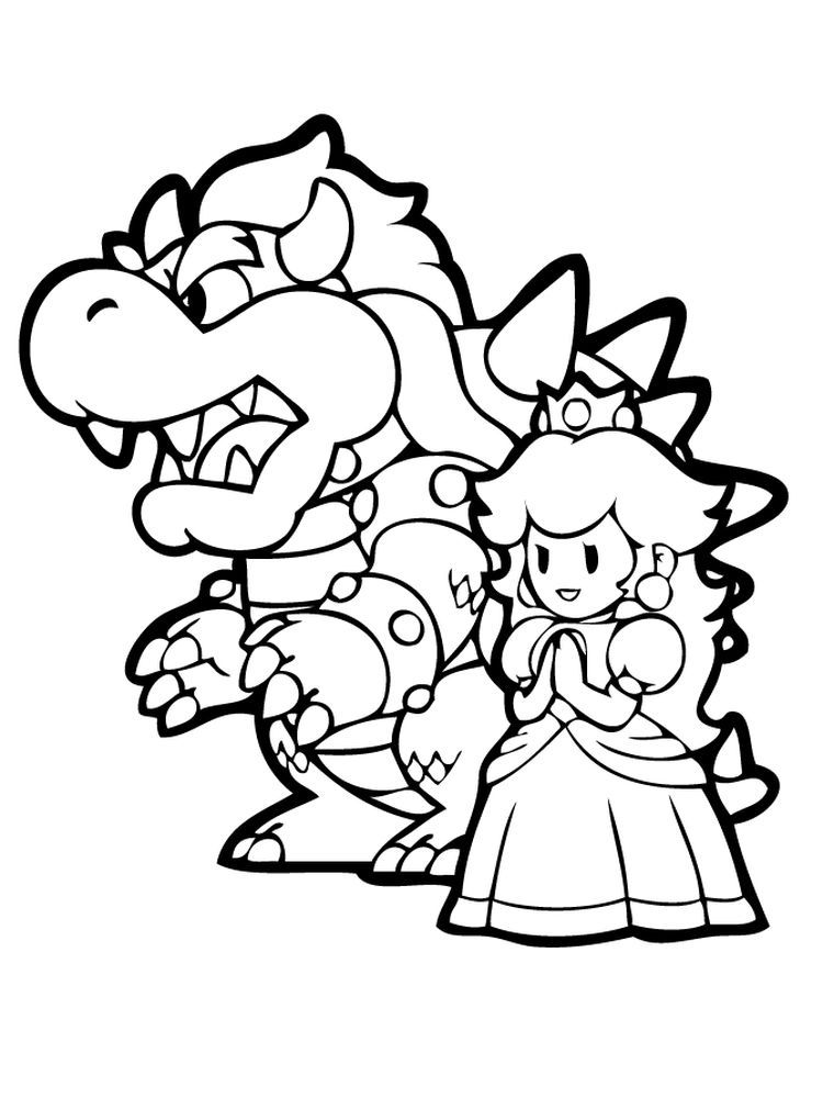 Paper Bowser Coloring Pages Mario Coloring Pages Coloring Pages Cartoon Coloring Pages