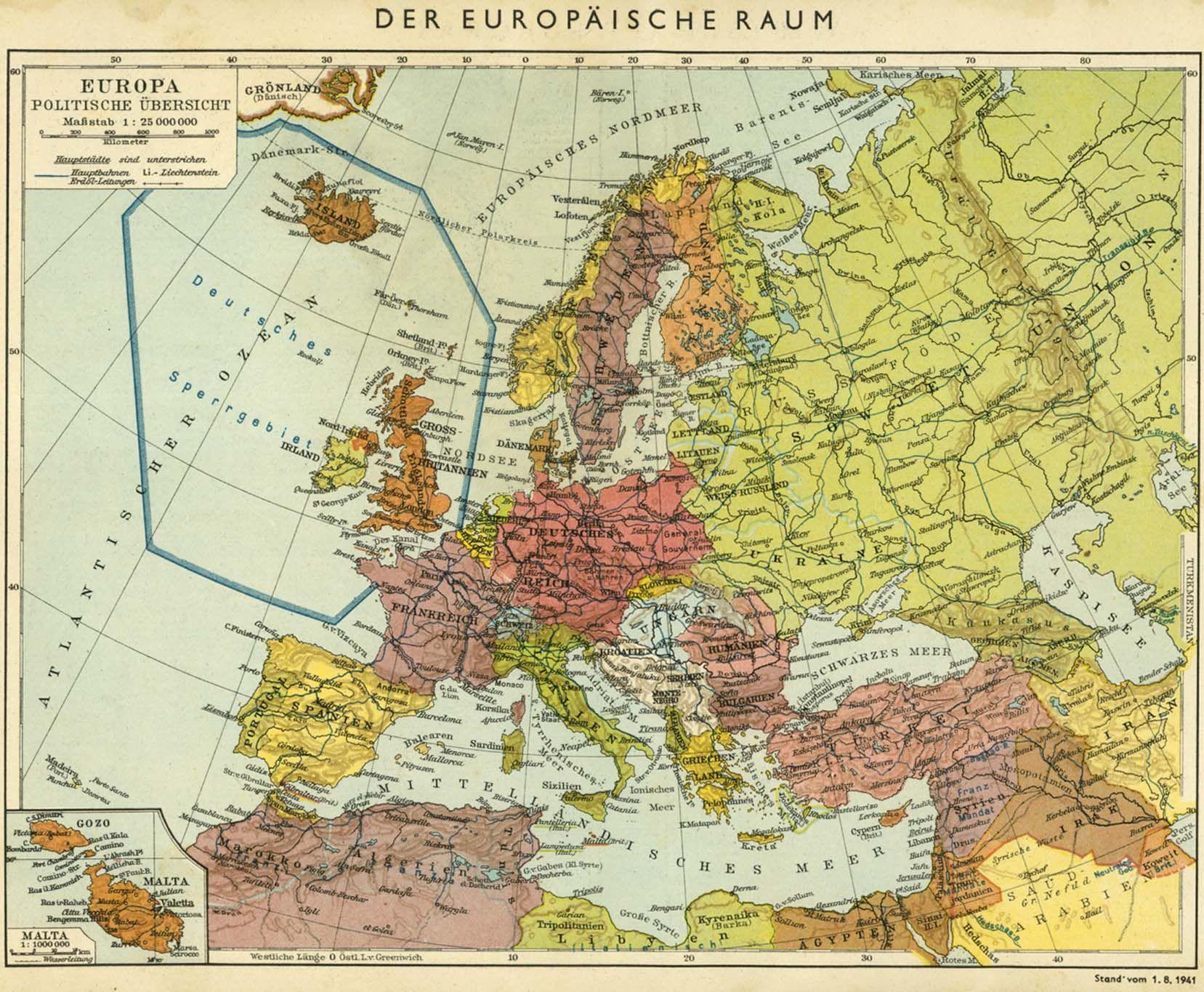 1944 Politicheskaya Karta Evropy
