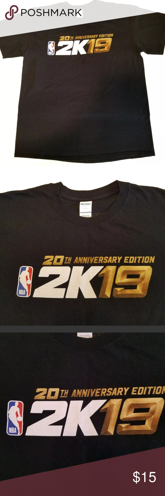 Nba 2k19 20th Anniversary Edition T Shirt Size L 2k19 Nba 20th Anniversary Edition Large T Shirt Excellemt Pre Owned Conditi T Shirt Shirt Size Clothes Design
