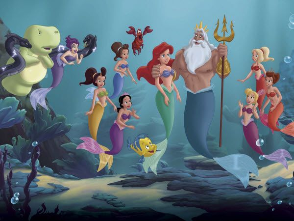 The Little Mermaid And Her Sisters The Little Mermaid