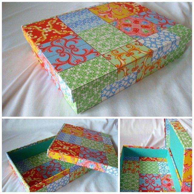Caixa Azulejos Color www.munayartes.com