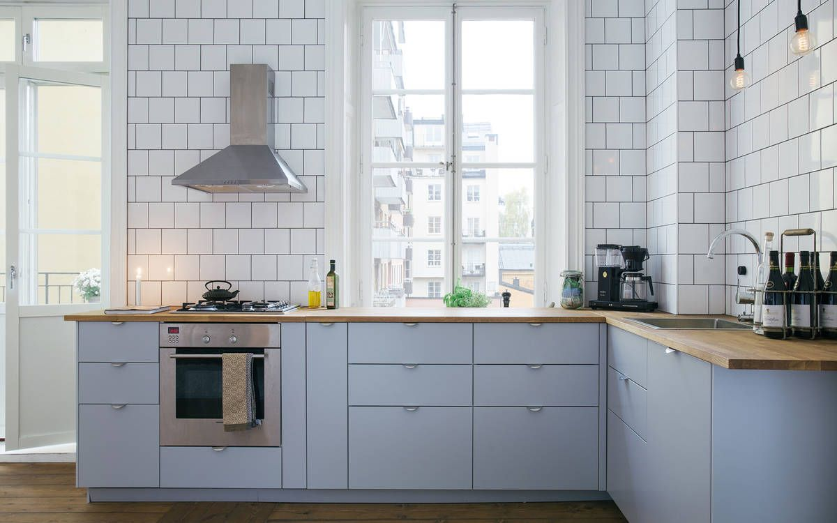grey and subway tile. Not sure it works... | Kitchen | Pinterest ...