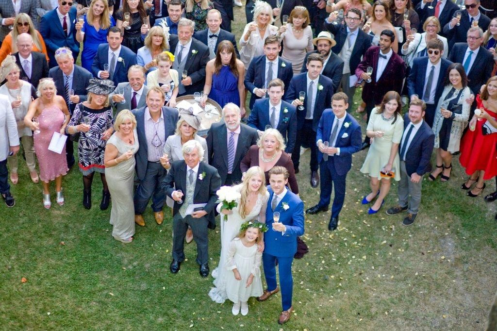 The wedding crowd