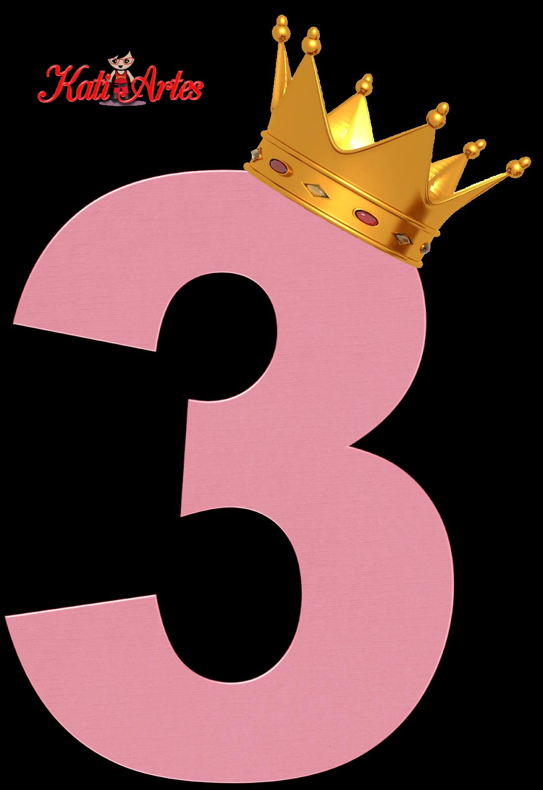 Alfabeto de Números Rosas con Coronas. | NUMEROS | Pinterest ...