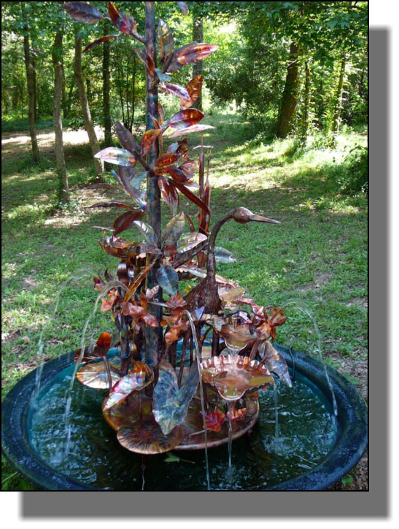 Water Foutains | Magnolia Heron Copper Outdoor Waterfall In Sugar Kettle.  By Waterfallforge.com · Outdoor FountainsGarden ...