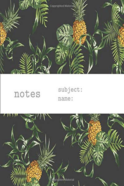 Notes: Notebook & Journal With Vintage Tropical Pineapple Palm Leaf Hawaiian Aloha Cool Men Women Pattern - Delsee #dolistsorbooks