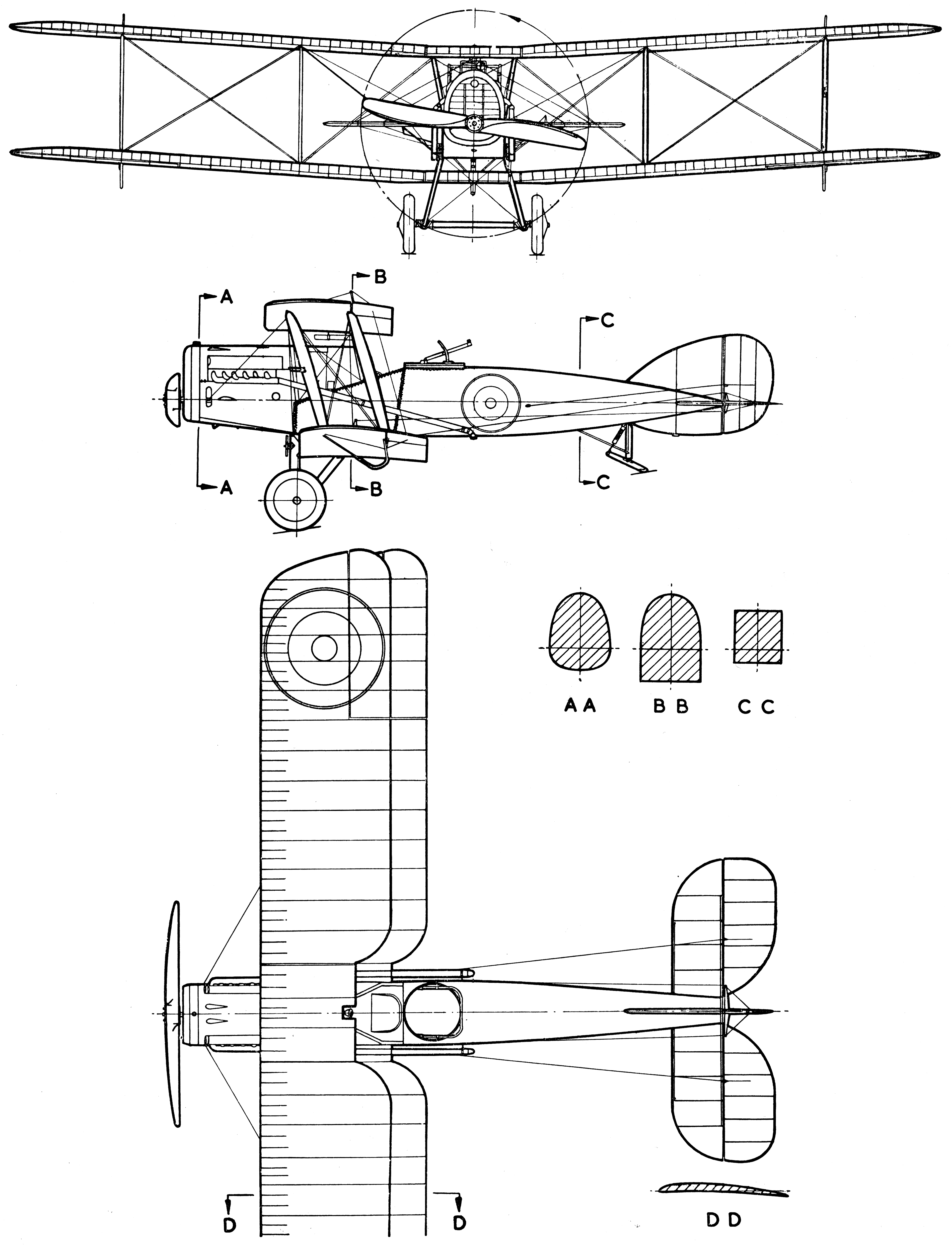 Bristol F 2 Fighter Blueprint