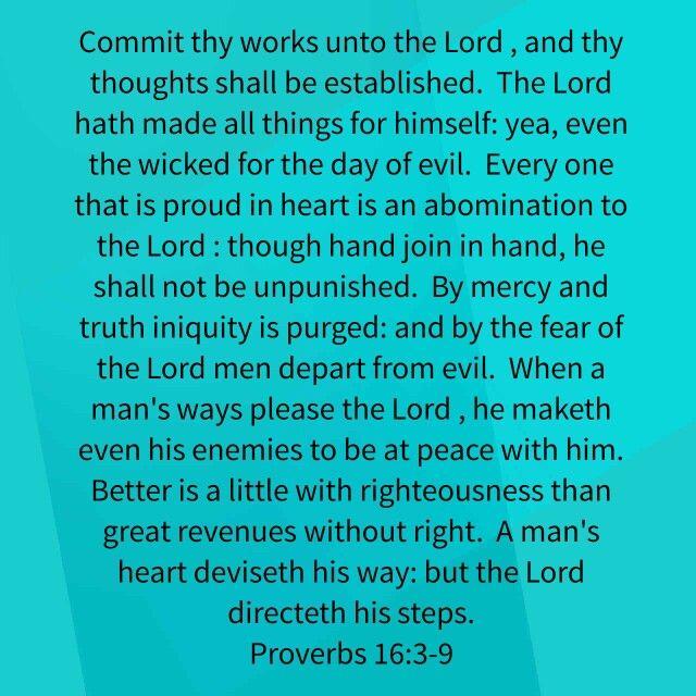 Proverbs 16:3-9