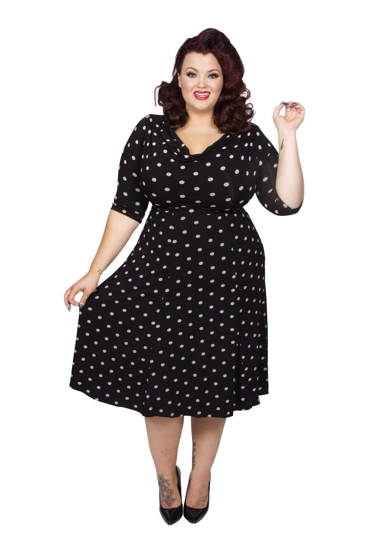 Vintage Style 1940s Plus Size Dresses Plus Size Dresses Swing Dress Style Plus Size Vintage Dresses