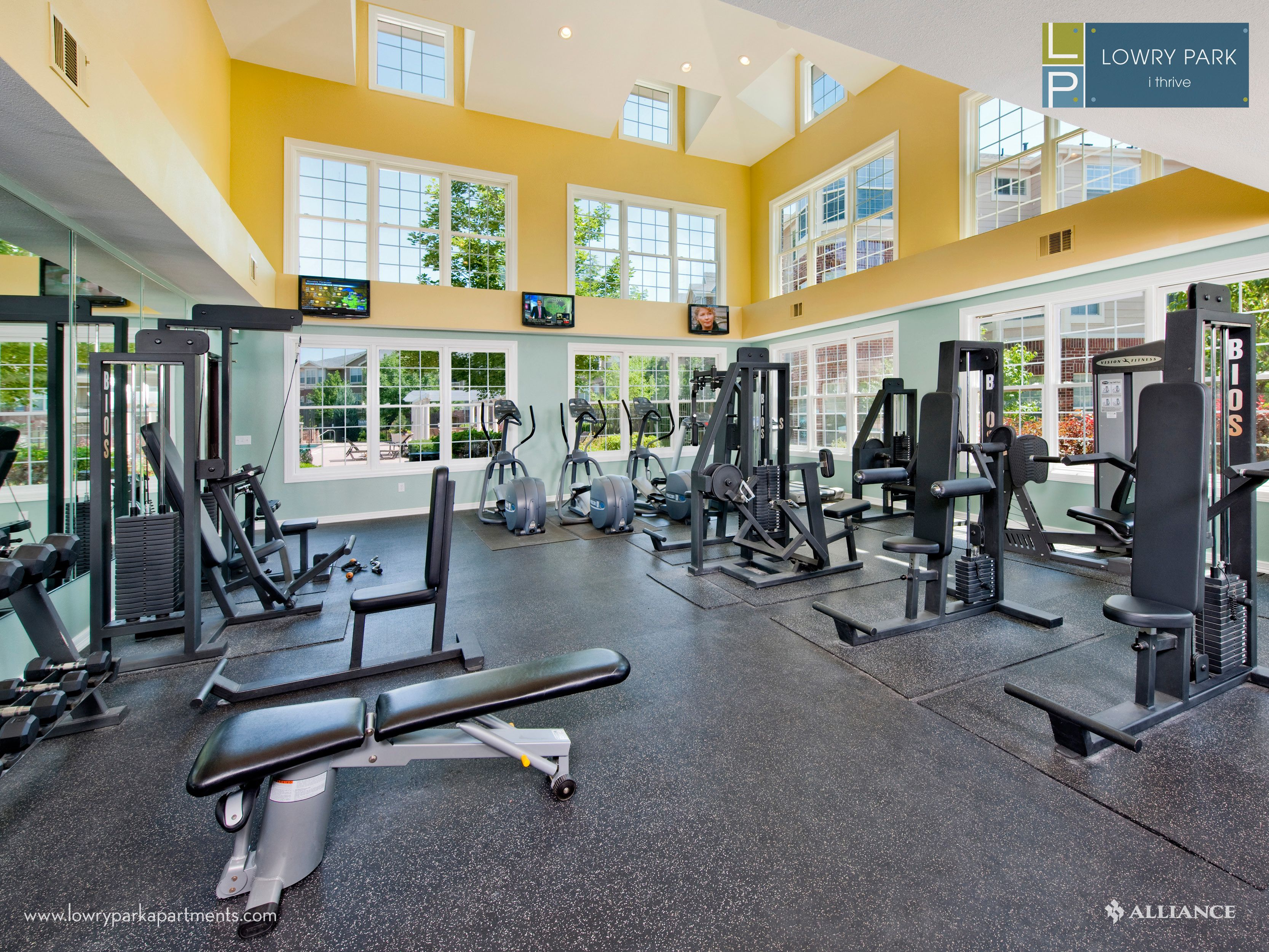 The Gym at Lowry Park Apartments in Denver, CO