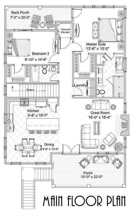 Coastal Home Plans - Baxter Street Beach House Pinterest - plan maison etage m