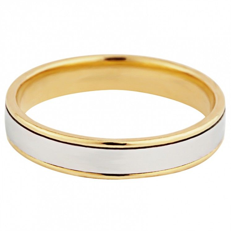 18ct Yellow And White Gold Wedding Ring Wedding Rings White Gold Wedding Rings Rings