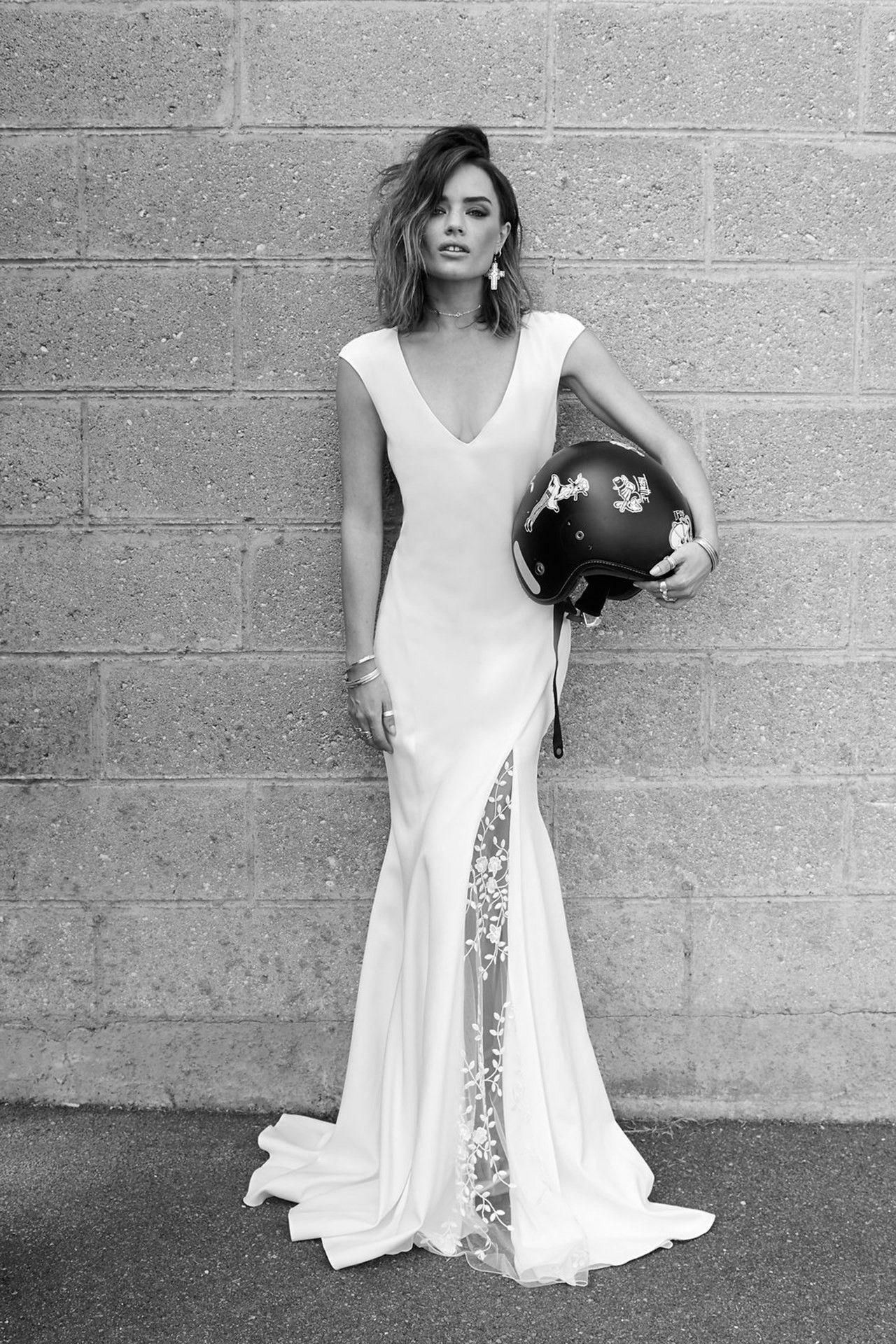 Split skirt wedding dress trend styled shoot wedding