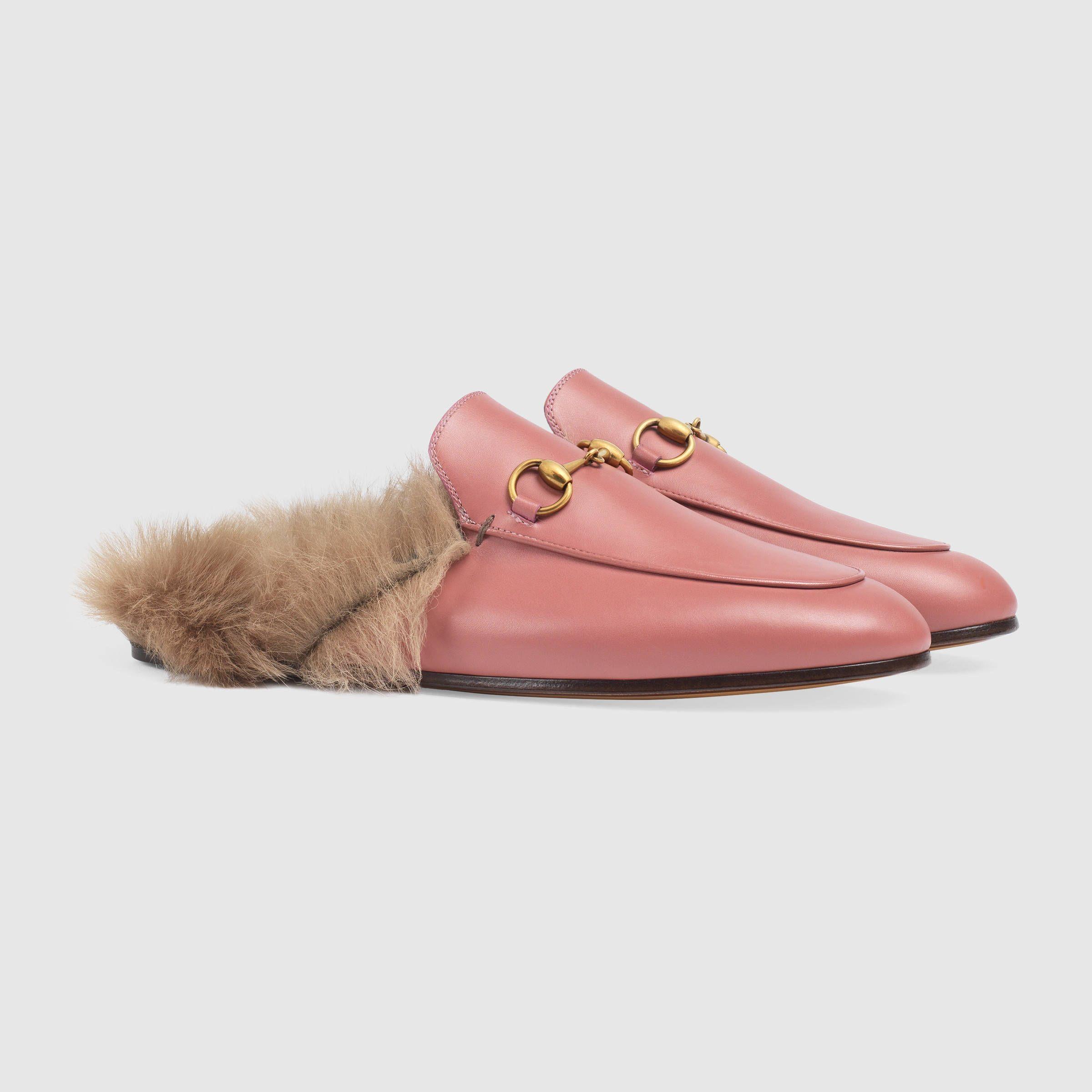 Gucci Chausson En Cuir Princetown - Rose Et Violet 7BX1qnT