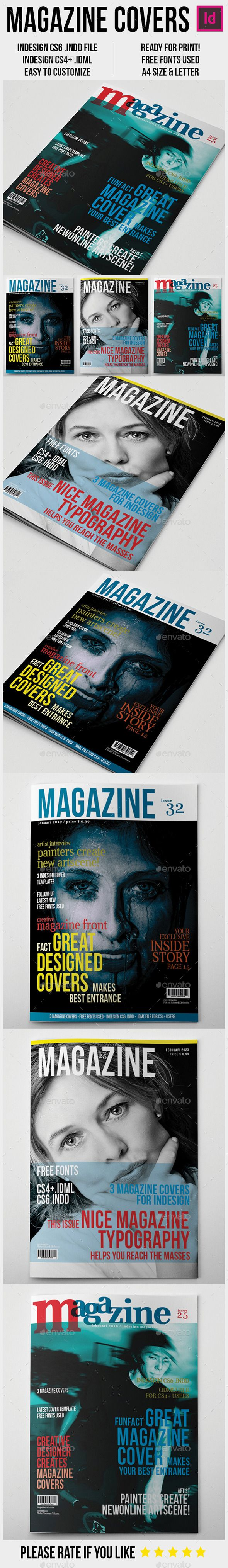 Magazine Covers Template A4 | Magazine cover template, Template and ...