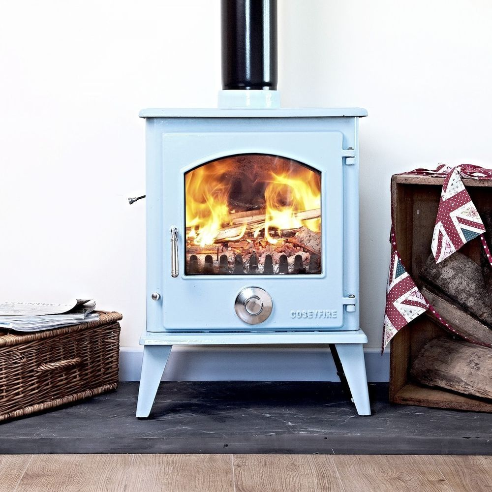 scandinavian wood stoves petit xl duck egg blue enamel woodburning ...