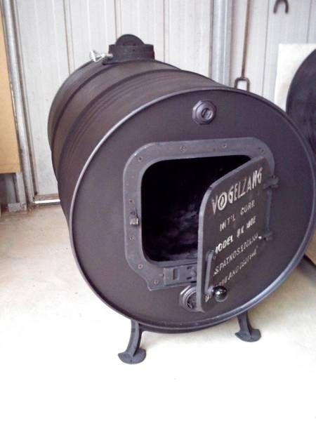 Wood Heater Pot Belly Barrel Stove Kit Vogelzang 44