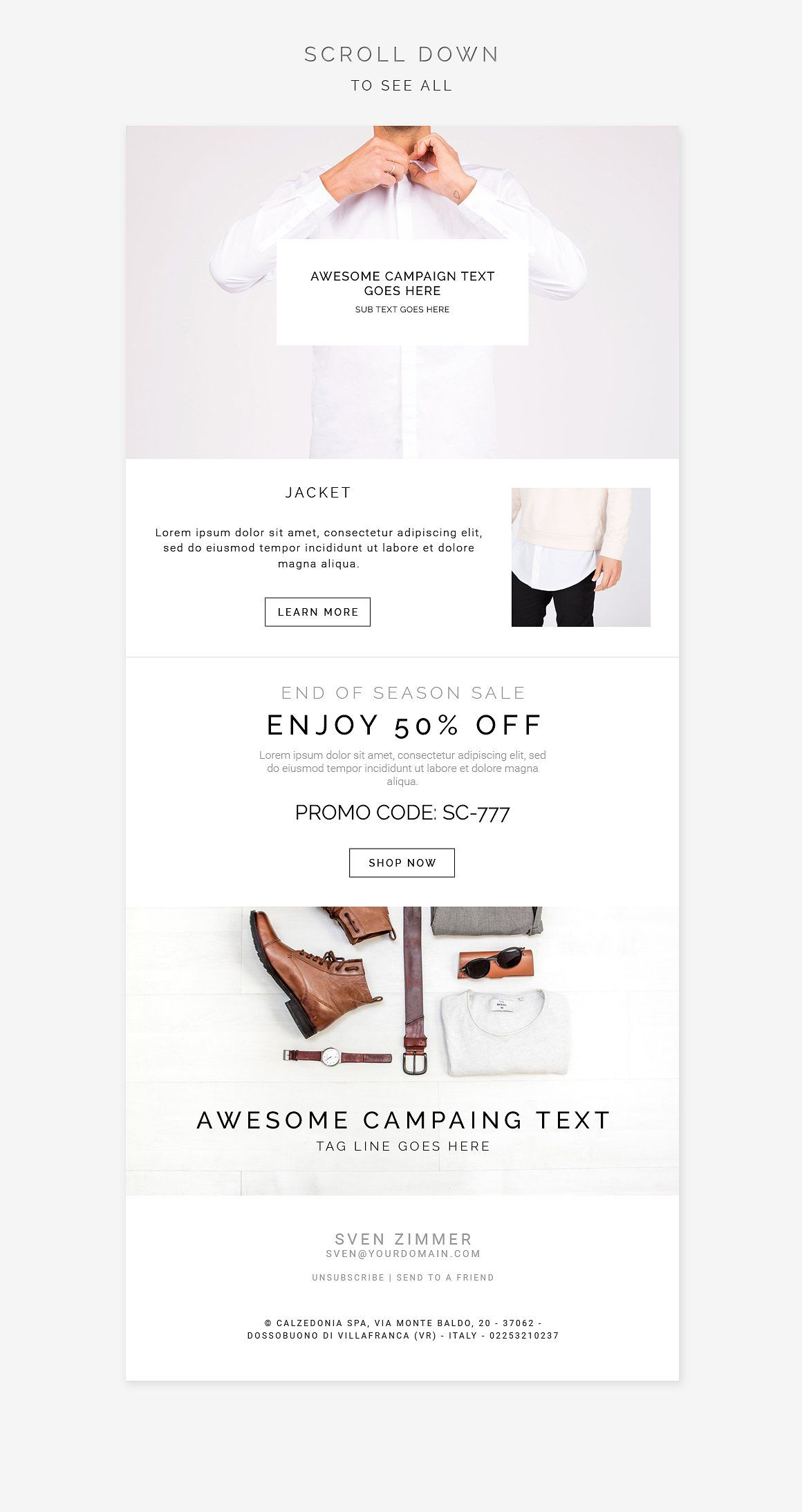 White Fashion E-newsletter Pack by Swiss_cube on