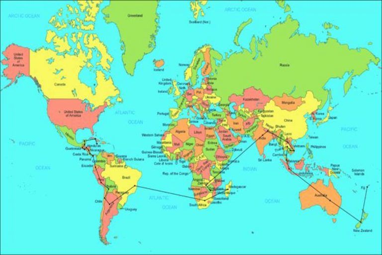 Map Of The World Labeled Simple Labeled World Map World Maps With