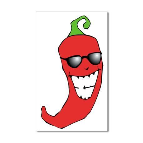 Cool Chili Pepper Crop Sticker Rectangle Cool Chili Pepper